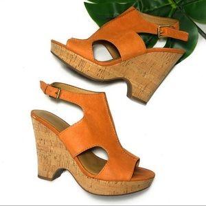 Franco Sarto - peep toe wedge
